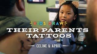 Download Celine Designs Her Mom's First Tattoo | Kids Draw | Cut Video