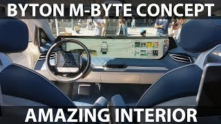 Download Byton M-Byte Concept amazing interior Video