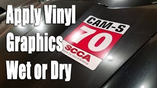 Download Install vinyl graphics wet or dry Video