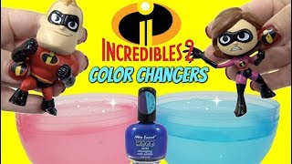 Download DIY THE INCREDIBLES 2 Toys Color Change Nail Polish with Mr. Incredible VS Baby Jack Jack Video
