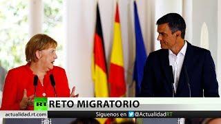 Download Merkel y Sánchez destacan la visión común ante la crisis migratoria Video