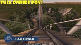 Download Texas Stingray Full Front Row POV NEW FOR 2020 at SeaWorld San Antonio Video