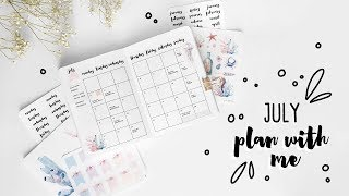 Download PLAN WITH ME | July 2017 Bullet Journal Setup | Ocean Sea Theme Video