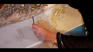 Download embroidery stitches by hand designs tutorial how to make party wear dress Video