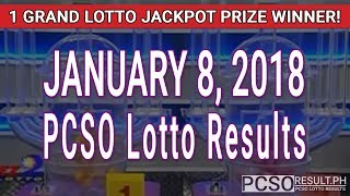 Download PCSO Lotto Results Today January 8, 2018 (6/55, 6/45, 4D, Swertres, STL & EZ2) Video