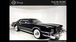 Download 1813   1976 Lincoln CONTINENTAL MARK IV White Walls   Scottsdale, AZ Video