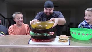 Download GIANT GUMMY McDonald's Big Mac Extreme Cheeseburger!! Video