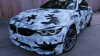 Download F82 M4 Fully wrapped Camouflage wrap Video