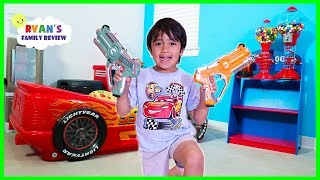 Download Ryan plays Nerf Toys with Daddy at the new office The Studio Space! Video