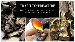 Download TRASH TO TREASURE - MELTING & CASTING BRASS BARS & COINS FROM BURIED METALS Video