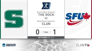 Download SFU Clan Men's Soccer vs. SRU - September 15, 2017 Video