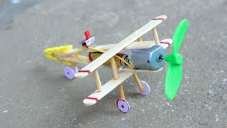 Download How to make Aeroplane with DC motor - [ wooden plane ] Video