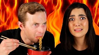 Download People Try The World's Spiciest Instant Noodle Video