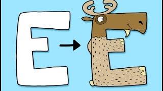 Download E for Elk - Learn To Draw ABC | Øistein Kristiansen Video