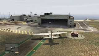 Download GTA V: Stealing the C-130 from Fort Zancudo Military base Video