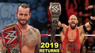 Download 10 WWE RETURNS Rumored for 2019 - CM Punk & Ryback Returning Video
