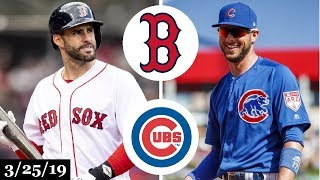 Download Boston Red Sox vs Chicago Cubs Highlights | March 25, 2019 | Spring Training Video