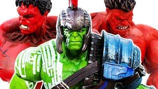 Download Hulk Family VS Red Hulk~ Raknarok HULK SMASH Collection !!! Avengers Superhero Toy - Toy Marvel Video