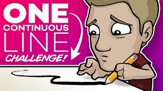 Download ONE LINE ART CHALLENGE! - 🚫DON'T LIFT YOUR PEN!🚫 Video