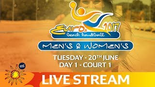 Download Re-Live: Beach Handball EUROS   Day 1 - Court 1   Zagreb, Croatia Video