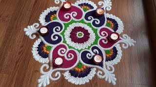 Download Simple and attractive freehand rangoli designs with colours by Shital Daga Video