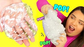 Download DIY Bubble Wrap Slime! Super Crunchy Popping Slime! Video
