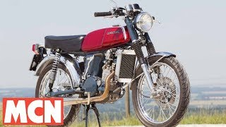 Download Riding a motocross-powered Honda SS50 | Ally Pally Show | Motorcyclenews Video