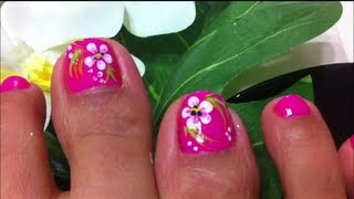 Download how to design flower on toe nails Video
