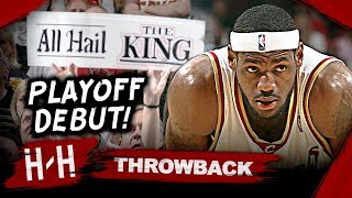 Download Throwback: LeBron James EPIC Playoff Debut Triple-Double Highlights vs Wizards | 2006 Playoffs Video