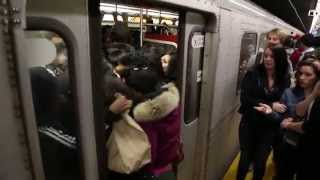 Download Overstuffing The Toronto Subway Train Video