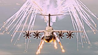 Download Airbus Military A400M ″Grizzly / Atlas″ - 2017 Defensive Flares Testing [HD 1080p] Video