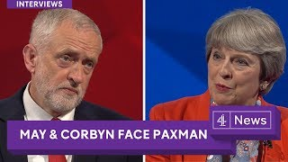 Download Jeremy Paxman interviews Jeremy Corbyn and Theresa May Video