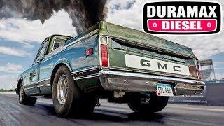 Download Twin Turbo Duramax - 10 Second Old School Diesel C10! Video