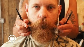 Download Maintenance Beard Trim at the Barber | Eric Bandholz Video