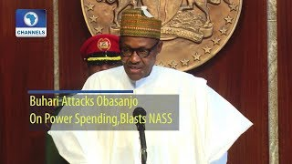 Download Buhari Attacks Obasanjo On Power Spending, Blasts NASS (Full Statement) Video