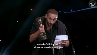 Download Tamer Nafar's acceptance speech at the Ophir Awards (Israeli Oscars) Video
