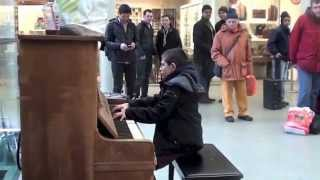 Download 11 year old George plays Beethoven ″Waldstein″ Sonata No. 21, 3rd Mov. on a Street Piano! Video