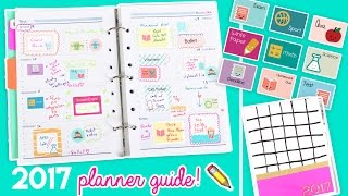 Download 2017 Planner Guide!! DIY Stickers, Covers, and Organizational Tips! ✏️💖 Video