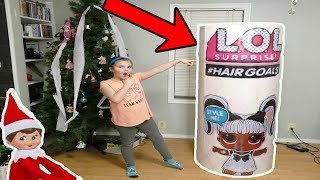 Download Huge LOL Surprise Hair Goals From My On The Shelf! Elf Brings the Doll Maker Back!! Video