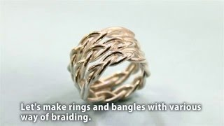 Download Braided free size ring with PMC Flex Video