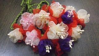 Download D.I.Y. Organza Fuchsia Flower Slings / Charms Tutorial | MyInDulzens Video