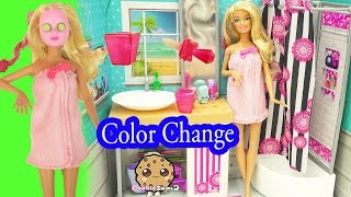 Download Barbie Spa To Fab with Color Changing Makeup Mask & Nail Polish - Cookieswirlc Video Video