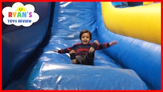 Download Indoor Playground for Kids Pump It Up Bounce House and Obstacle Course! Children Play Center Video