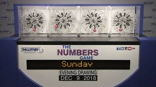 Download Evening Numbers Game Drawing: Sunday, December 9, 2018 Video
