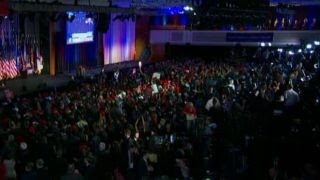 Download Chants of 'call it' ring out at Trump election HQ Video