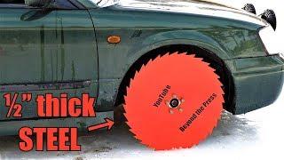 Download Testing Saw Blade Wheels on Frozen Lake! Video
