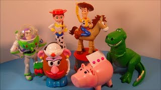 Download 1999 DISNEY'S TOY STORY 2 SET OF 6 CANDY DISPENSERS MCDONALD'S HAPPY MEAL KID'S TOY'S VIDEO REVIEW Video