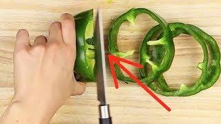 Download Deshalb solltest du Paprika immer in Ringe schneiden. Video