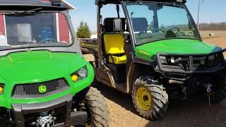 Download John Deere 590m vs 865M Diesel Gators XUV Video