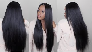 Download Watch Me Slay This Wig From Start To Finish | Sleek Straight Long Hair Video